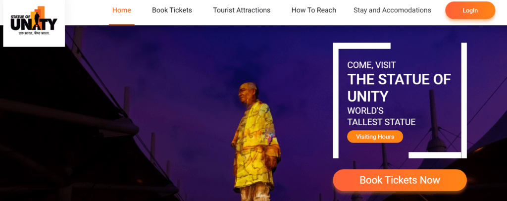 Statue of Unity Book Ticket online ||