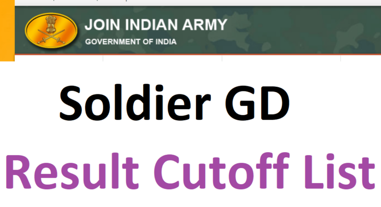 Indian Army Soldier GD Result 2021